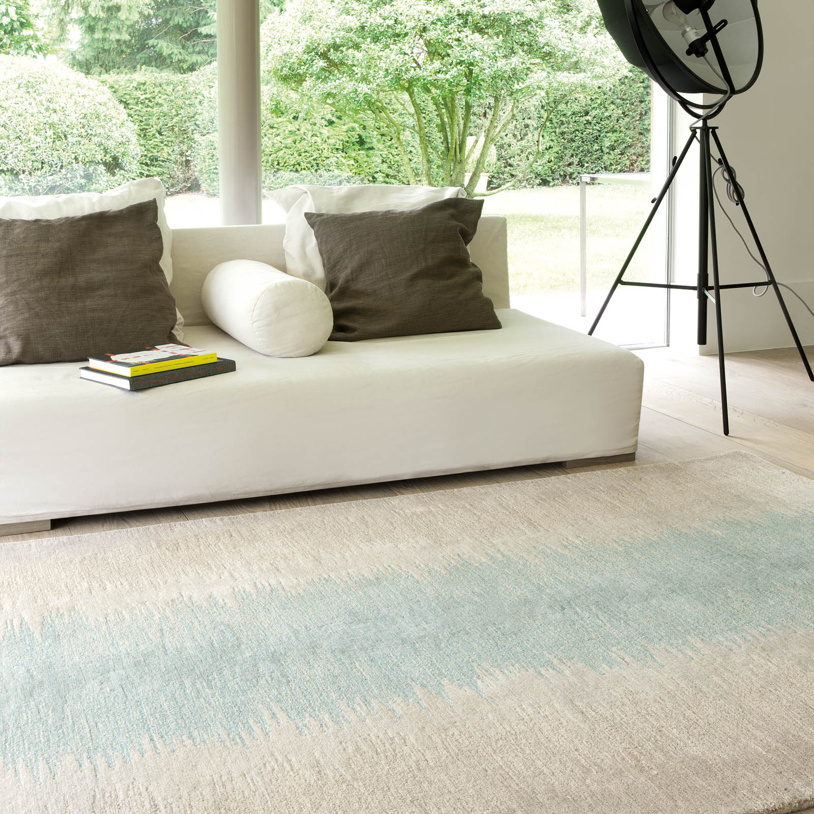 Colors Reflect Rugs in Green and Ivory 204 001 500