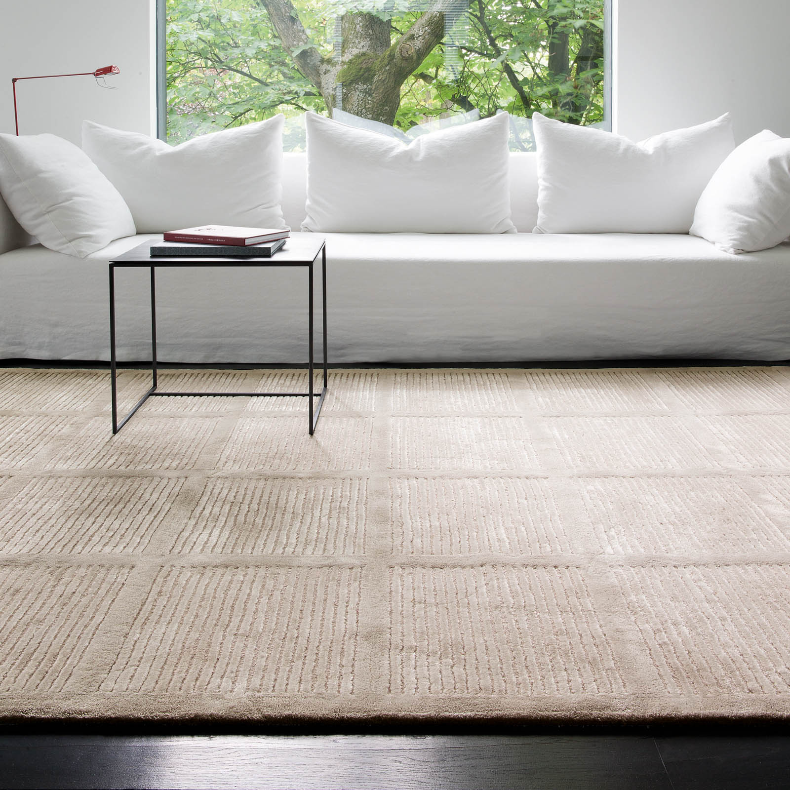 Uni Reflect Rugs 208 001 110 in Ivory by Ligne Pure