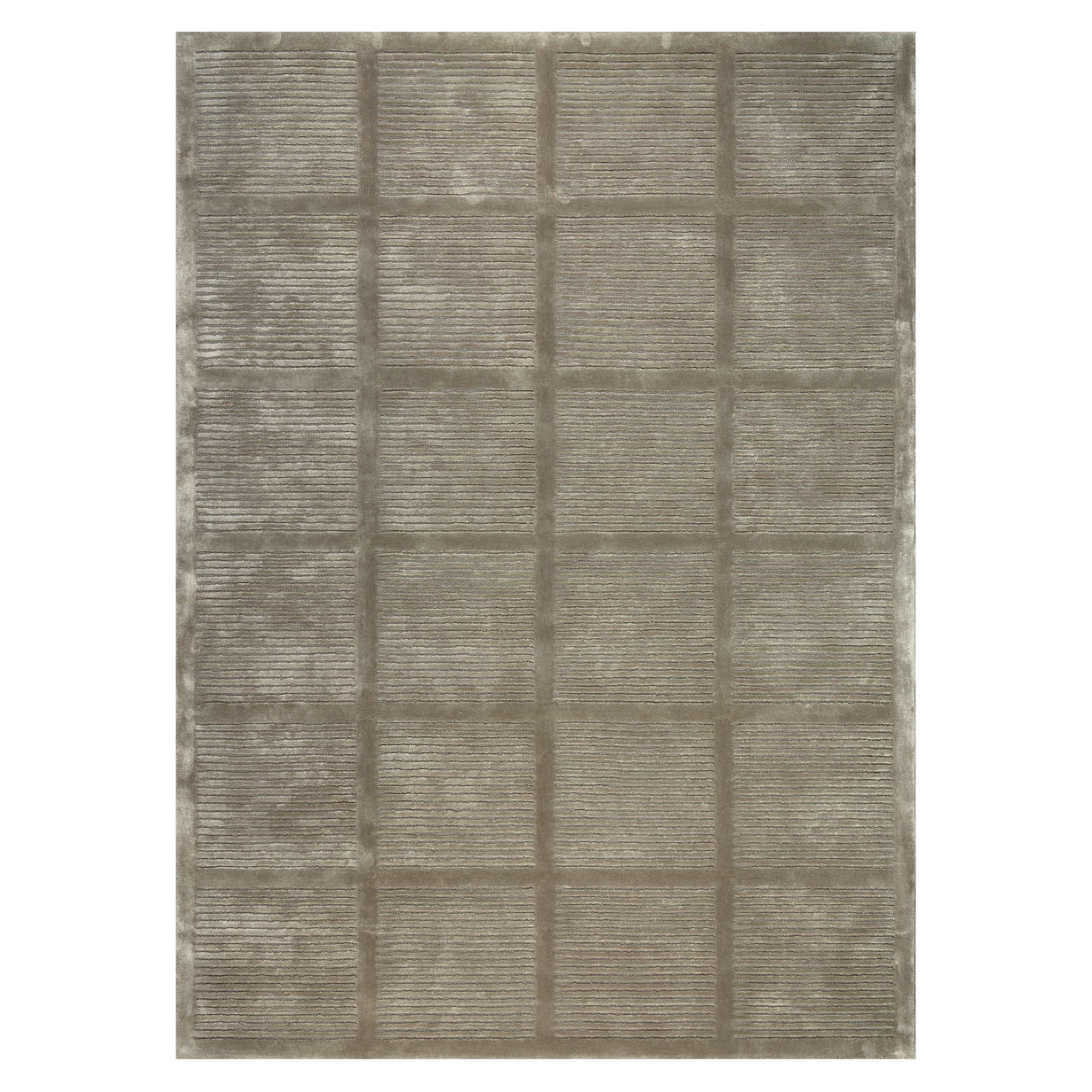 Uni Reflect Rugs 208 001 600 in Brown by Ligne Pure