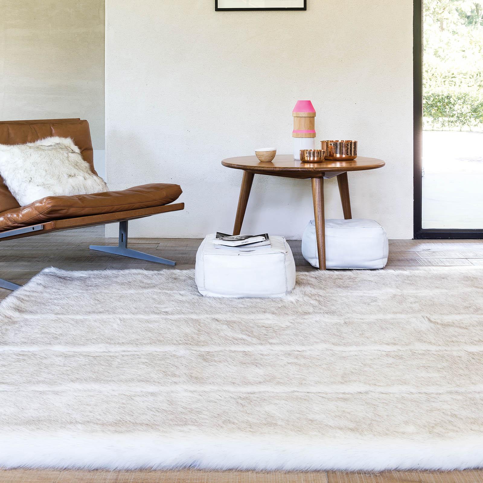 pelle feel rugs in cream and beige    by ligne pure  - pelle feel rugs in cream and beige    by ligne pure