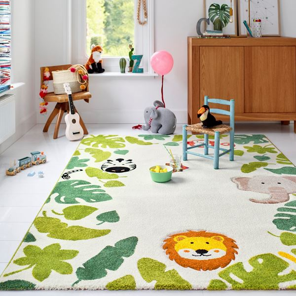 E-Safari Kids Rugs - Beige