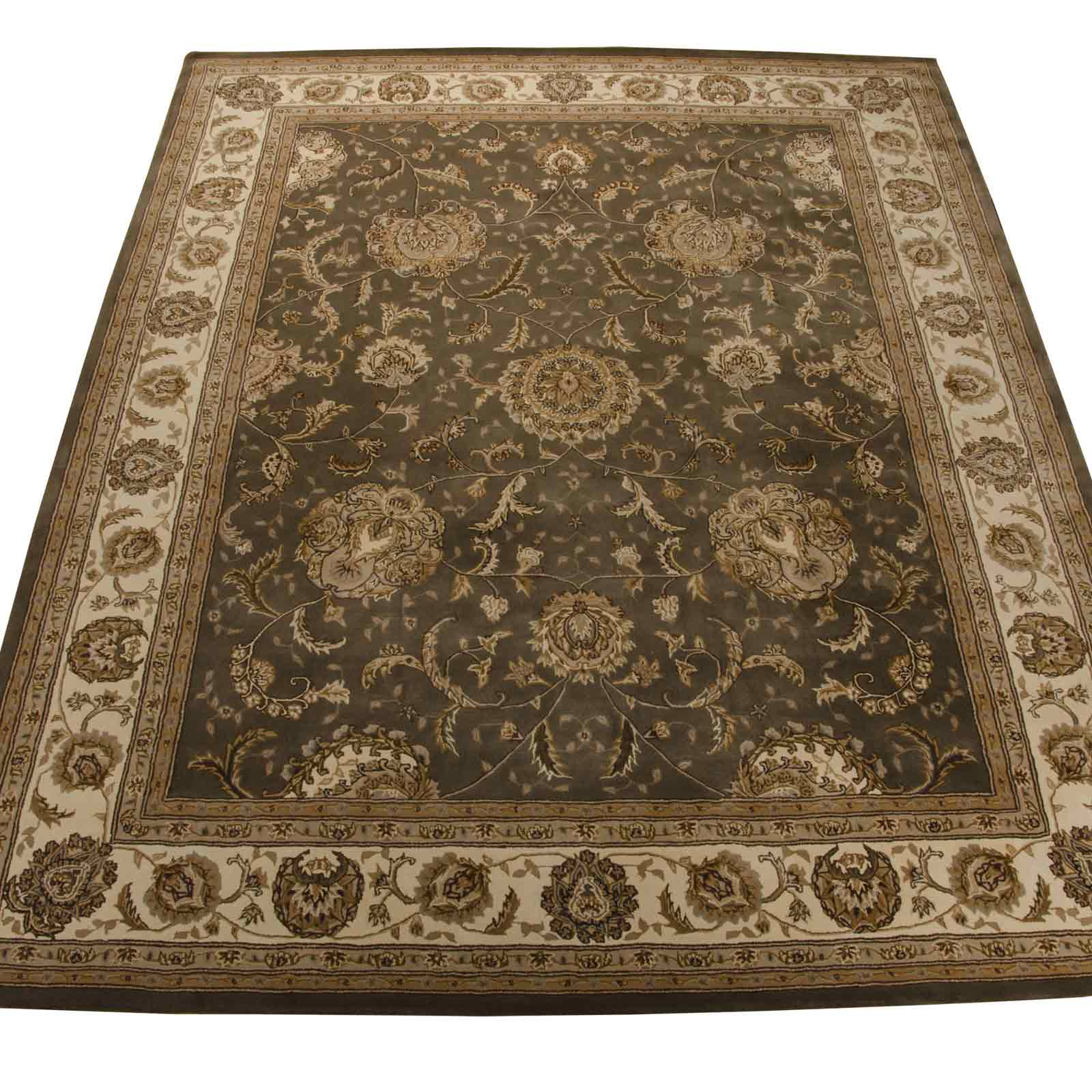 Nourison 2000 Traditional Rugs 2206 SLT in Slate Grey