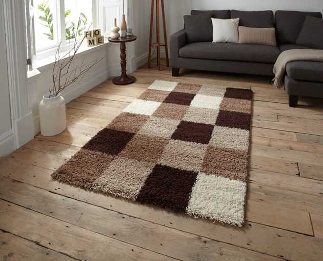 Majesty Shaggy Rugs 2247 Beige Brown