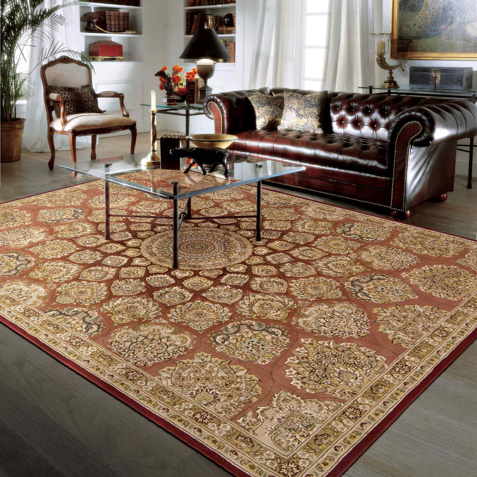 Nourison 2000 Rugs 2318 ROS in Rose