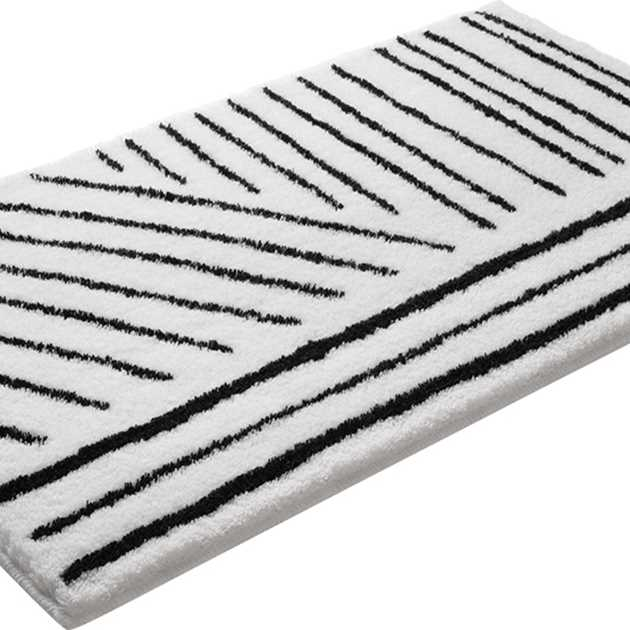 Funky Bath Mats 2375 03 by Esprit in Black and White