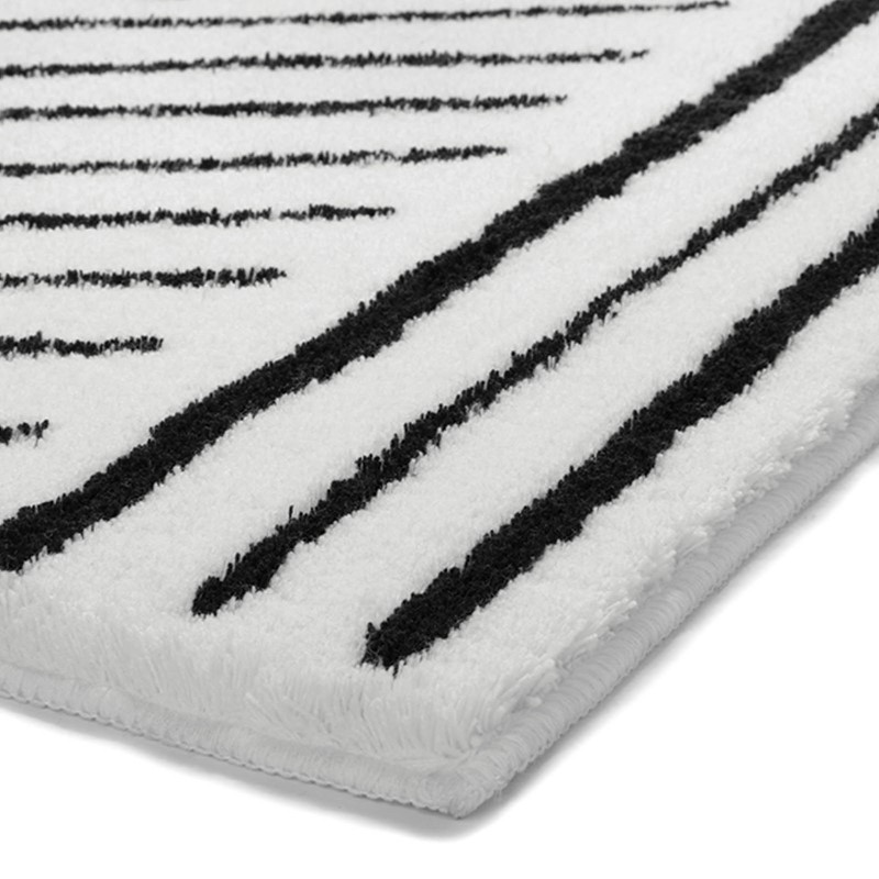 Funky Bath Mats 2375 03 By Esprit In Black And White Buy