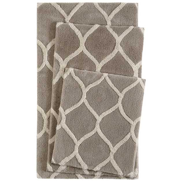 Oriental Tile Bath Mats 2427 01 in Taupe and Beige by Esprit