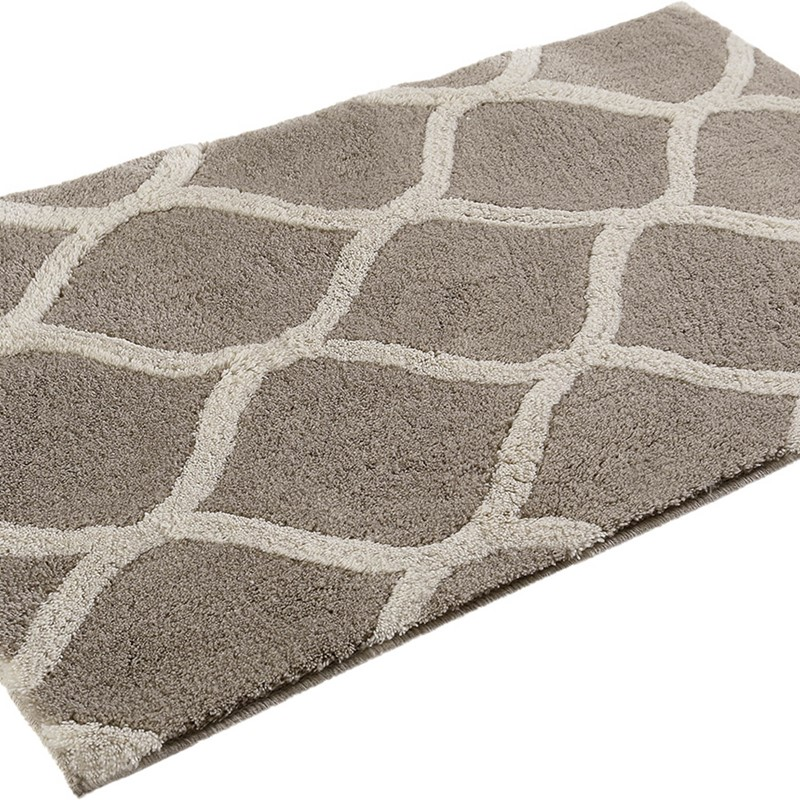 Oriental Tile Bath Mats 2427 01 In Taupe And Beige By Esprit Buy Online