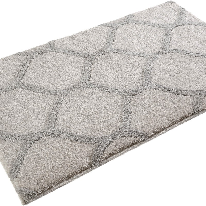 Oriental Tile Bath Mats 2427 04 In Cream And Silver By Esprit Buy