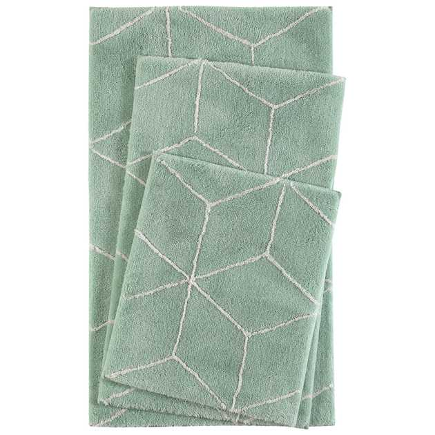 Flair Bath Mats 2438 14 in Green by Esprit