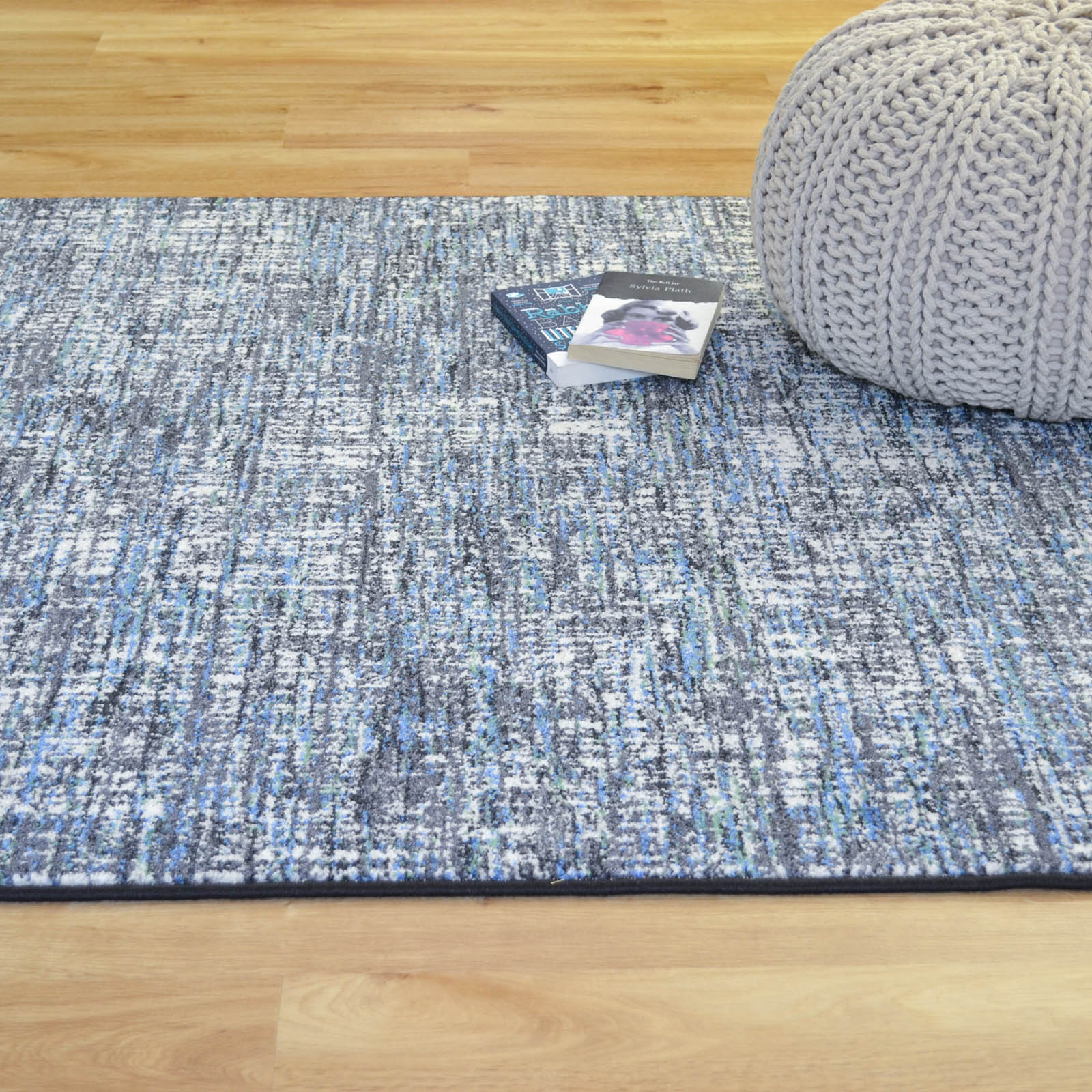 Woodstock Rugs 32219 6258 in Grey and Blue