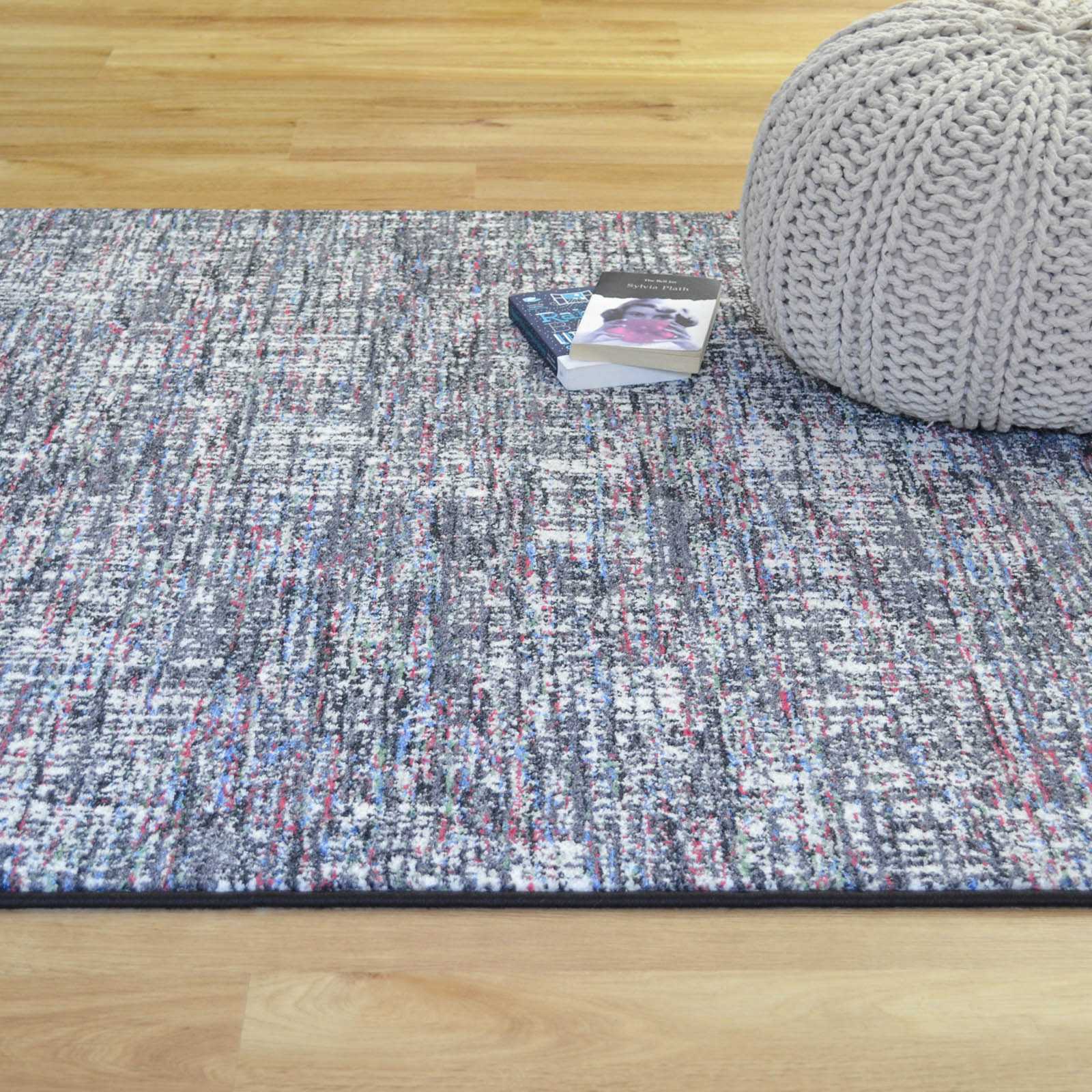 Woodstock Rugs 32219 7268 Grey and Pink