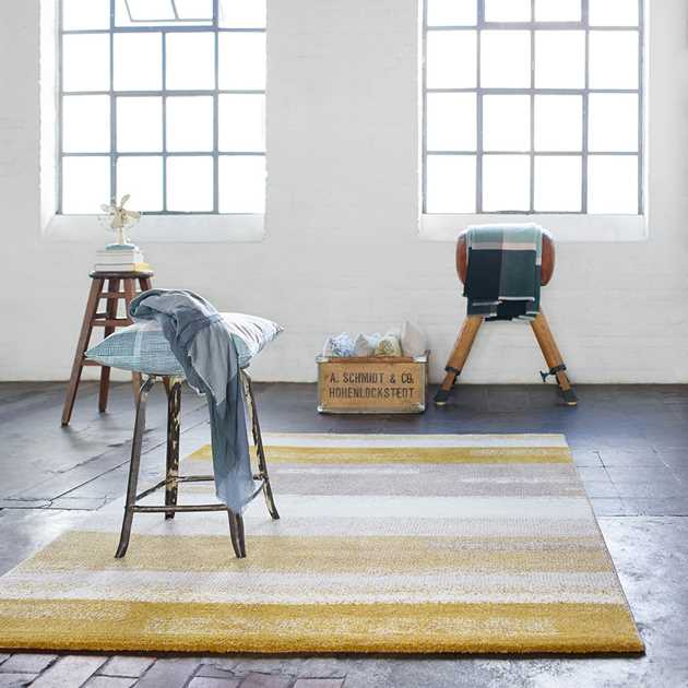 Dreaming Rugs 3247 075 by Esprit in Mustard and Taupe