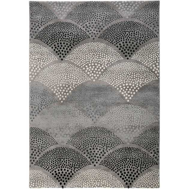 Chimera Rugs 3387 953 by Esprit in Petrol Blue and Taupe