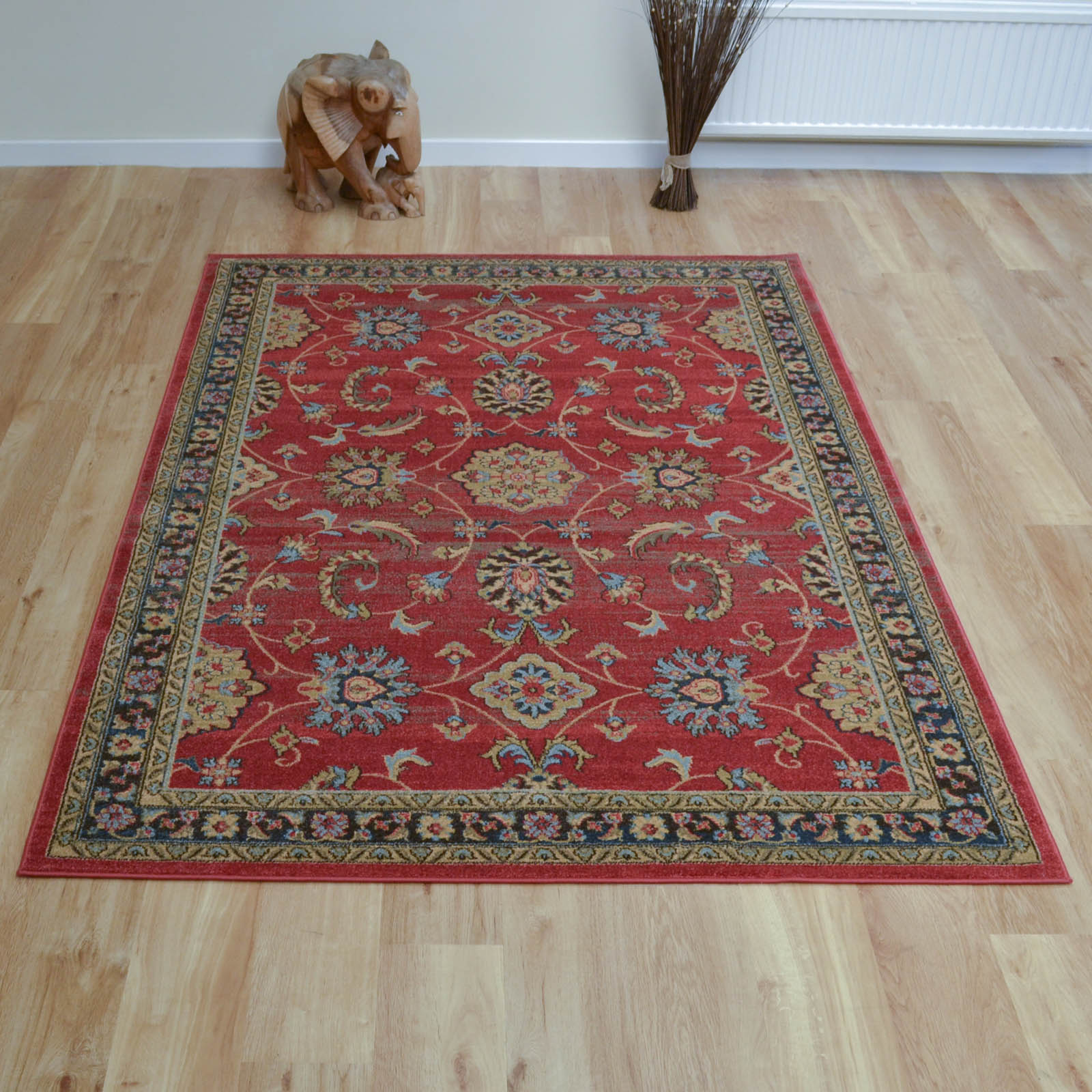 Ziegler Rugs 347 in Red and Black