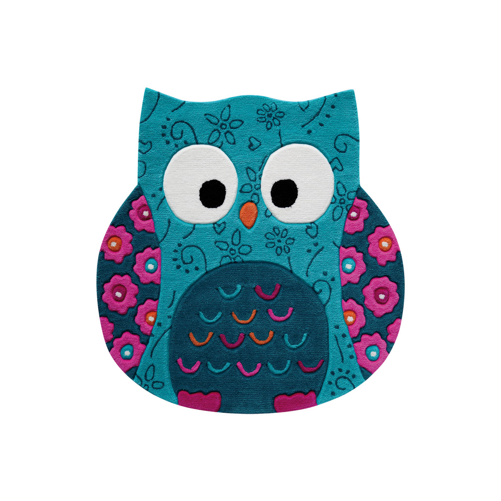 Little Owl Rugs 3659 01 in Turquoise