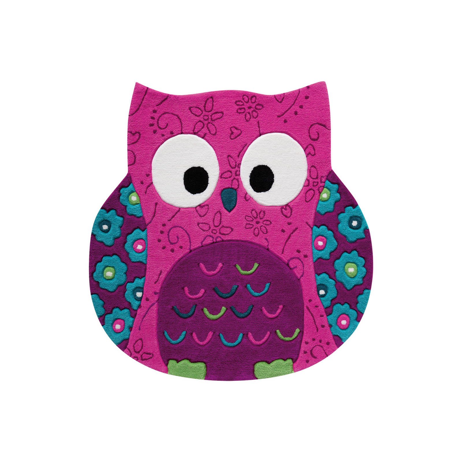 Little Owl Rugs 3659 04 in Pink