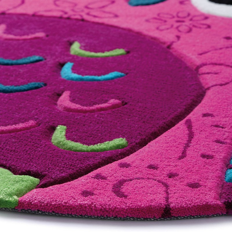 Little Owl Rugs 3659 04 In Pink Buy Online From The Rug