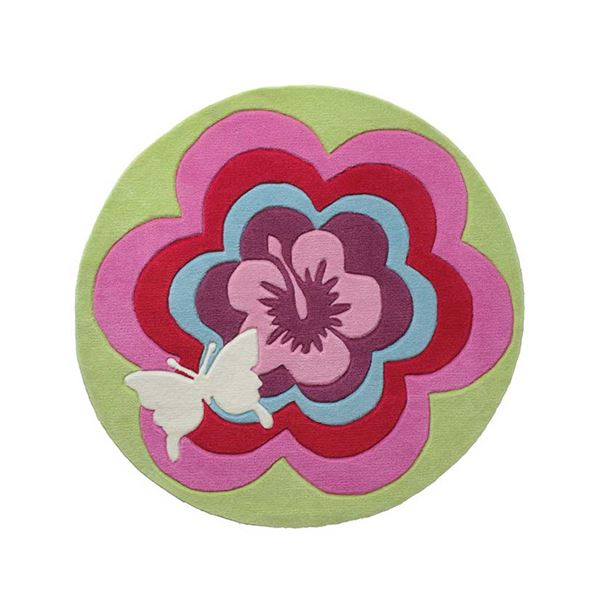 Fantasy Flower Circle Rug 3812 01 - Multi