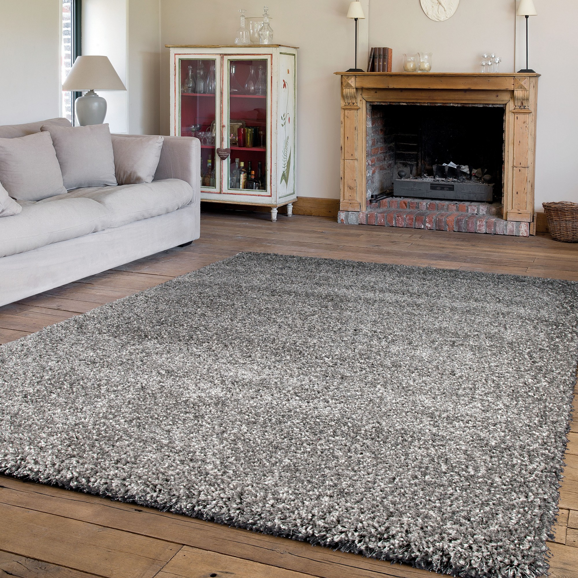 Twilight Rugs 39001 9999 Silver Shaggy