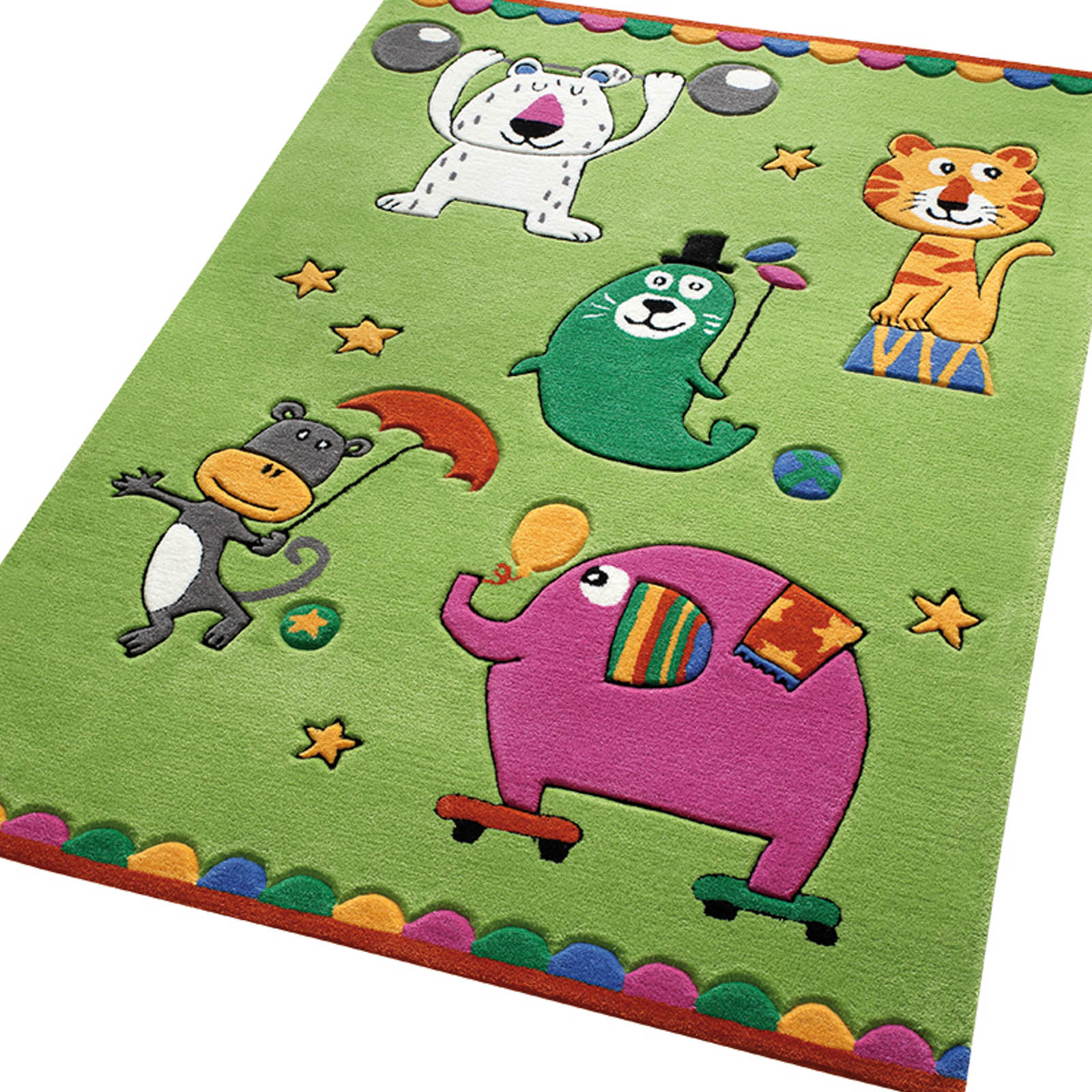 Little Artists Rugs 3981 03 in Green