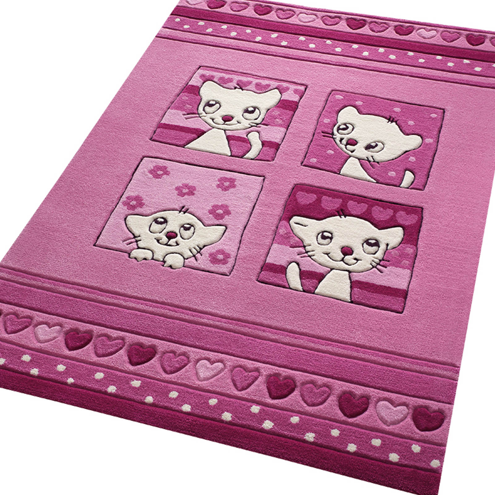 Kitty Kat Rugs 3988 02 in Pink