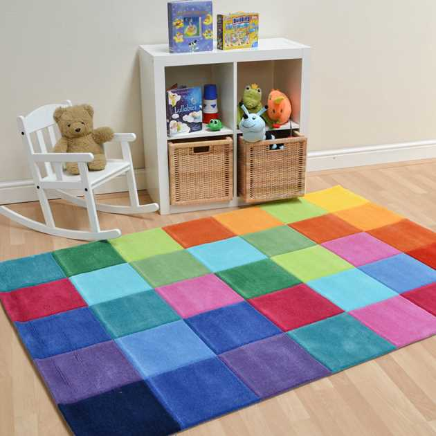Smart Square Multi-coloured Rugs 3990 01