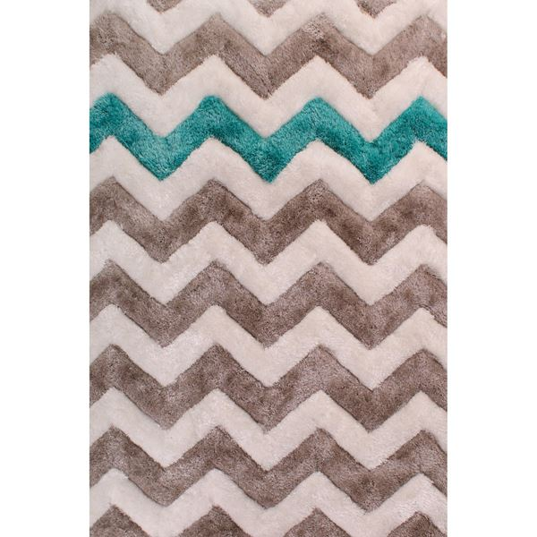 3D Chevron - Powder Blue