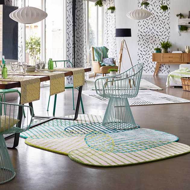 Graphic Jungle Rugs 4002 03 in Green