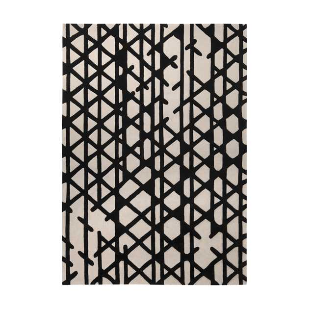 Artisan Pop Rugs 4011 01 in Black and Ivory by Esprit
