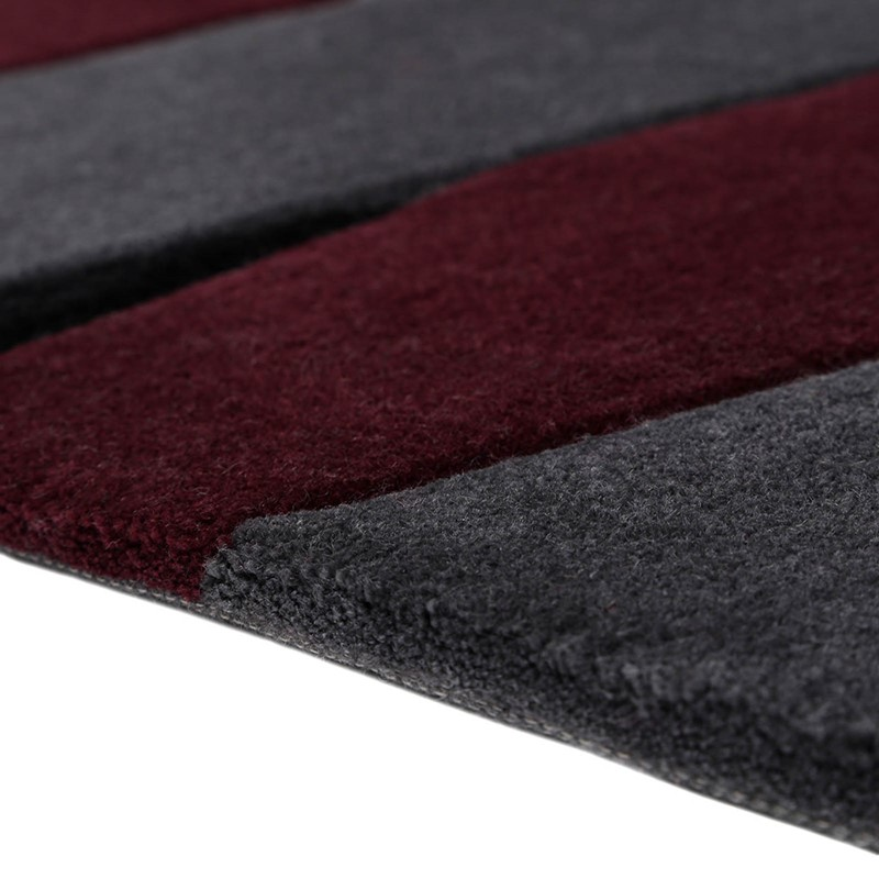 Lamella Rugs 4206 02 By Esprit In Burgundy And Grey Buy