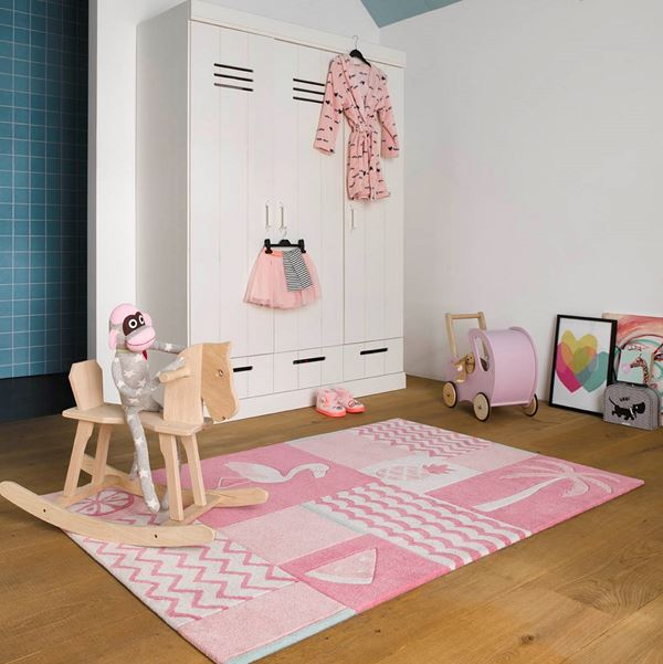 Fruity Flamingo Kids Rugs - Pink