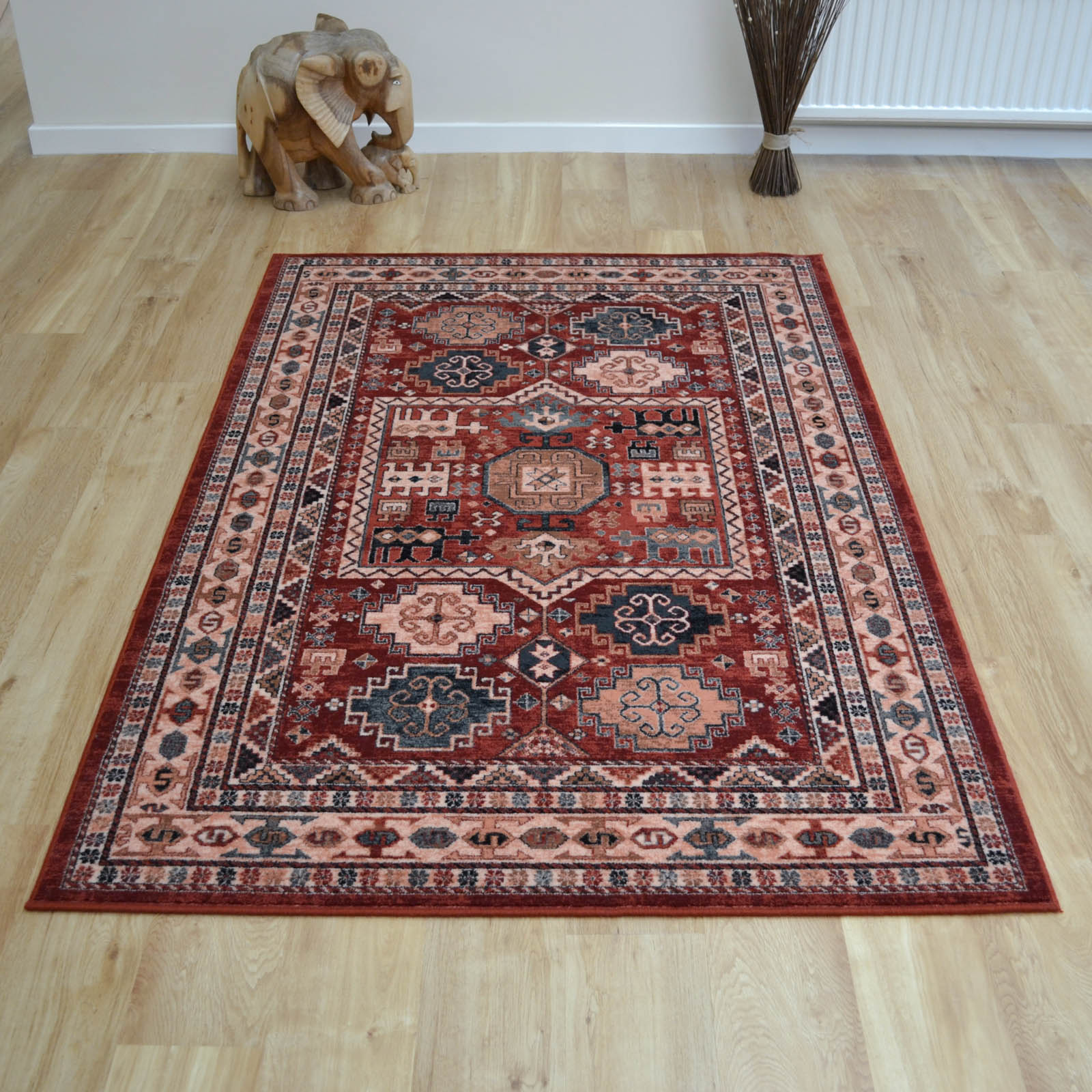 Royal Kashqai Rugs 4306 300 in Brick