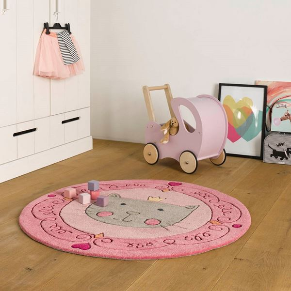 Lotti Queen Kids Rugs - Pink