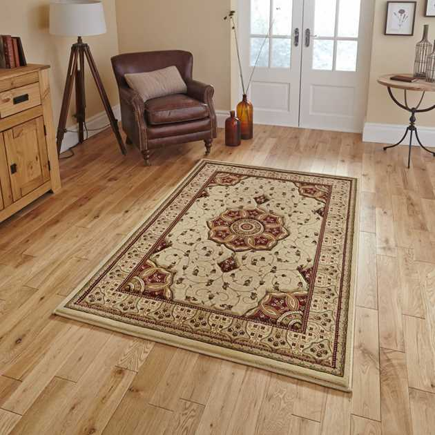 Heritage 4400 Rugs in Cream Red