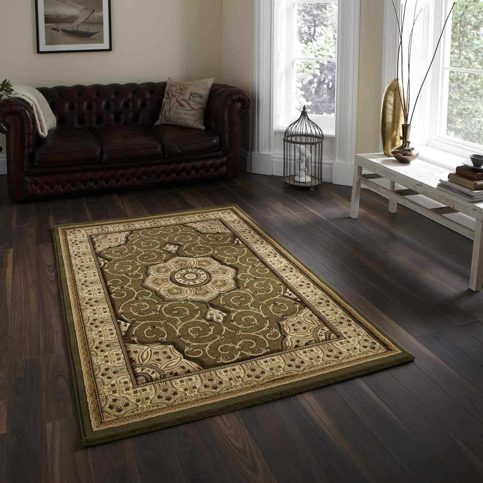 Heritage 4400 Rugs in Green