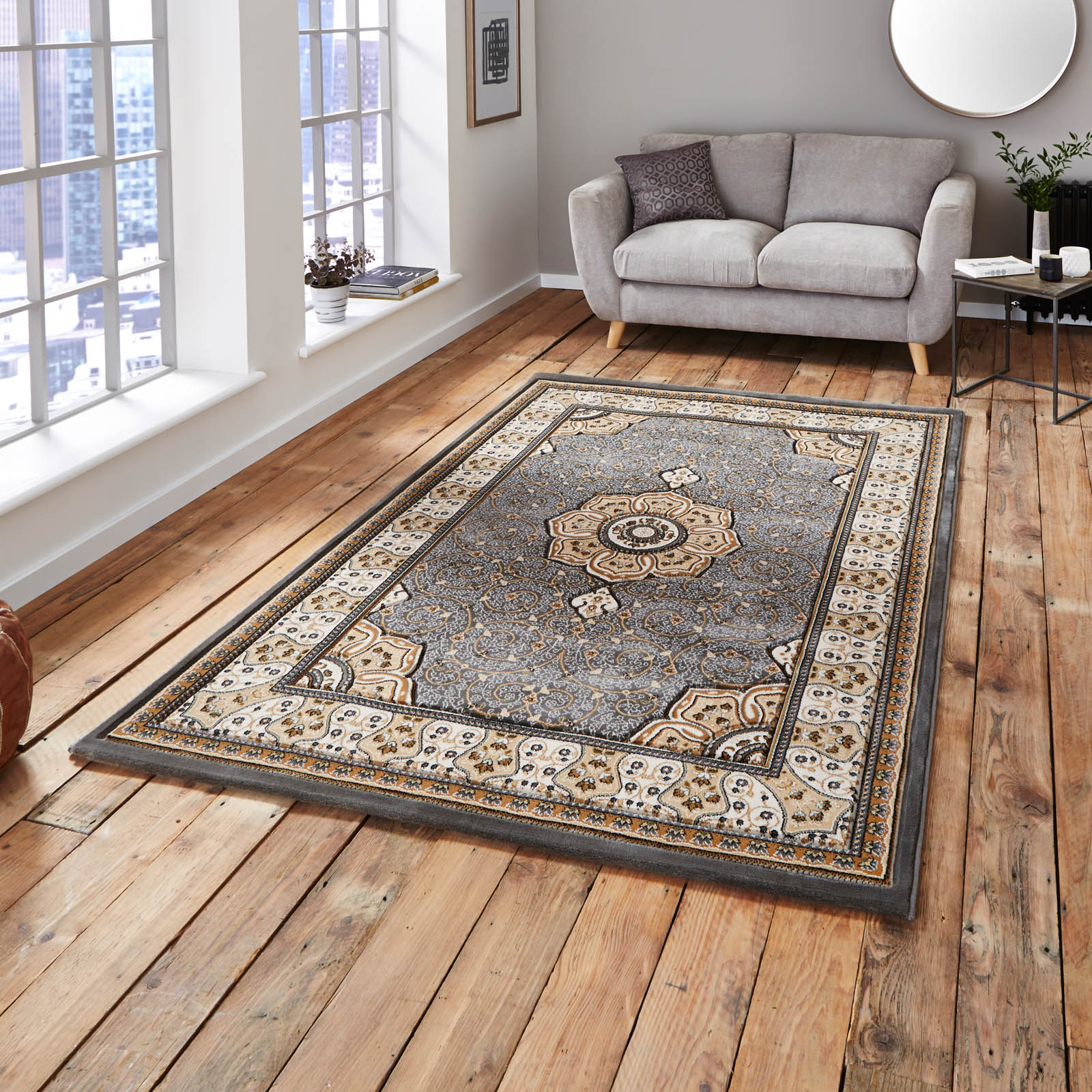 Heritage 4400 Rugs in Silver