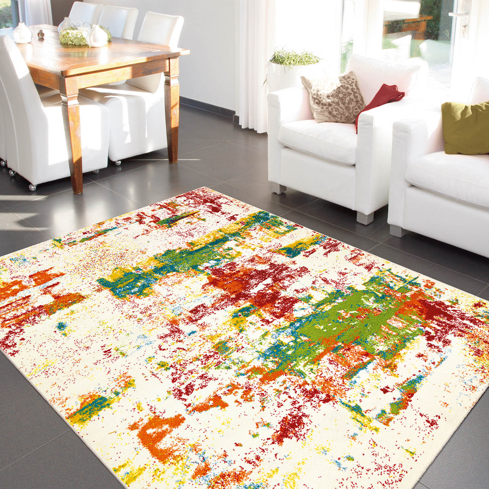 Artist Rugs 4440 75 Ivory and Multi-coloured