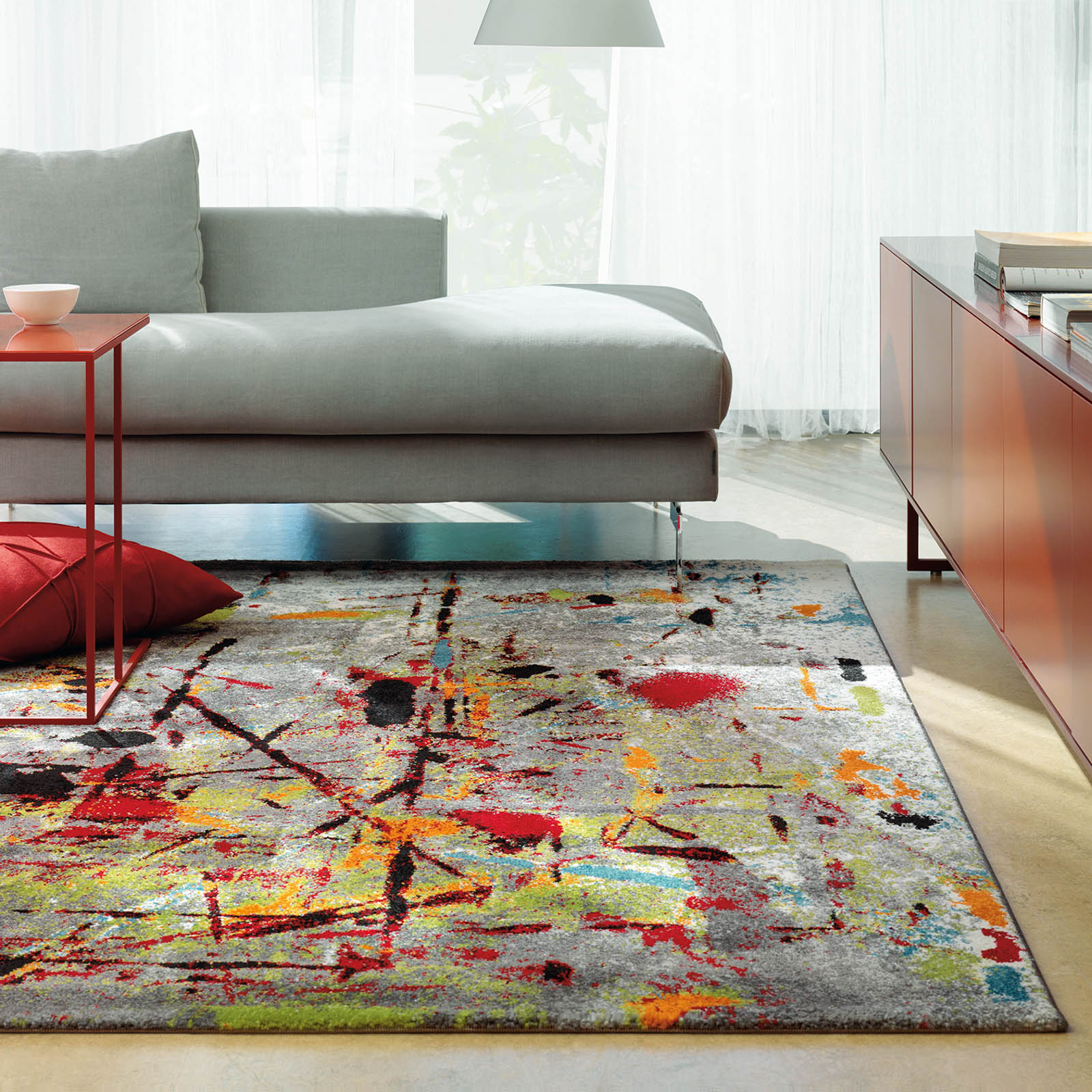 Slam Rugs 4457 75 Multi Coloured