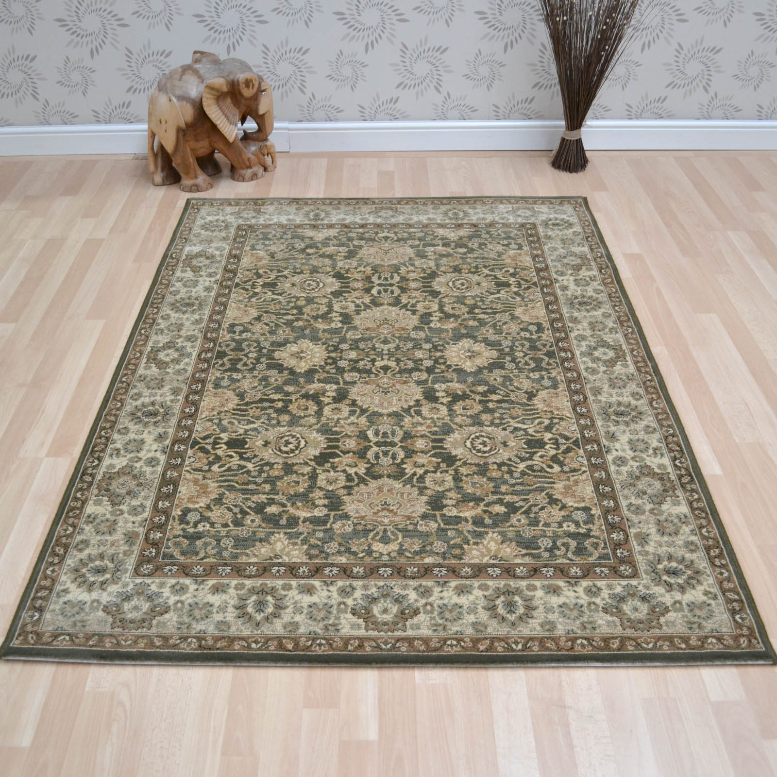 Kamira Rugs 4472 803 Dark Green