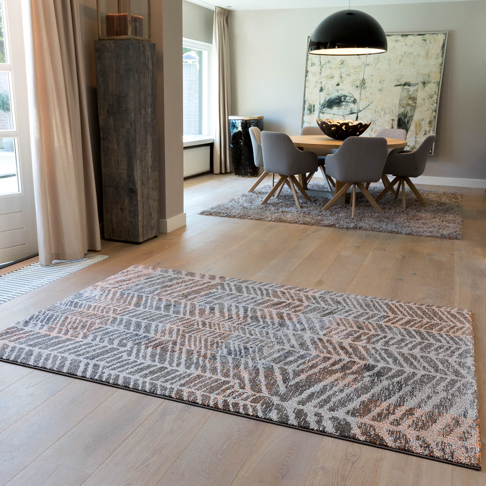 Arte Espina Line Up Rugs 4473 65 in Grey