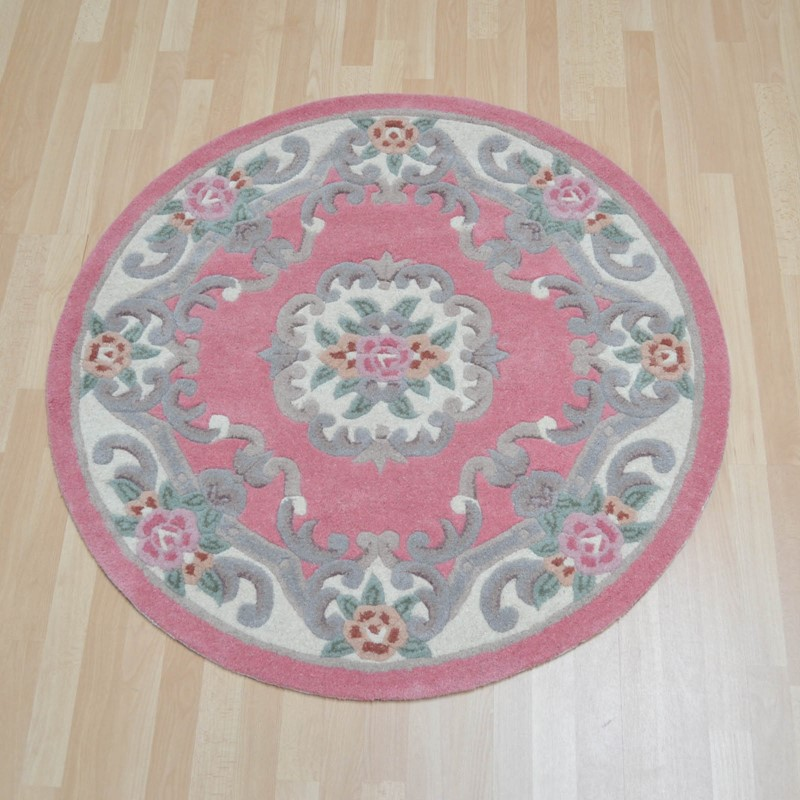 Chinese Circle Rugs 510 Aubusson Full Cut In Pink Buy