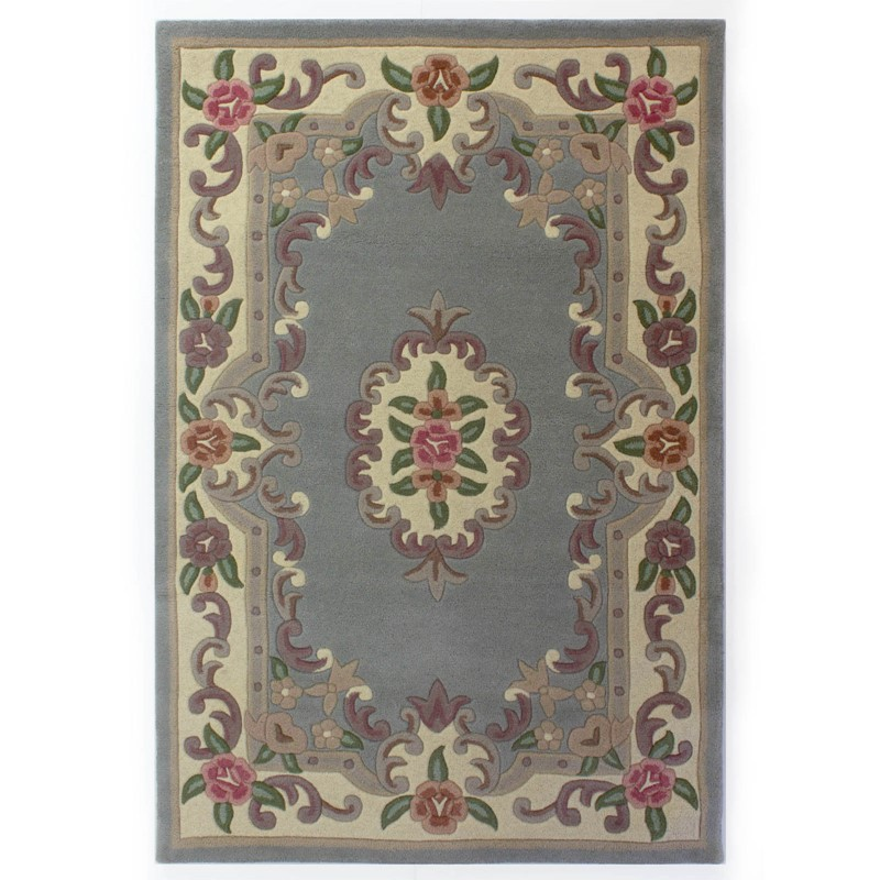 Large Aubusson Rug: 510 AUBUSSON FULL CUT IN GREY Buy Online