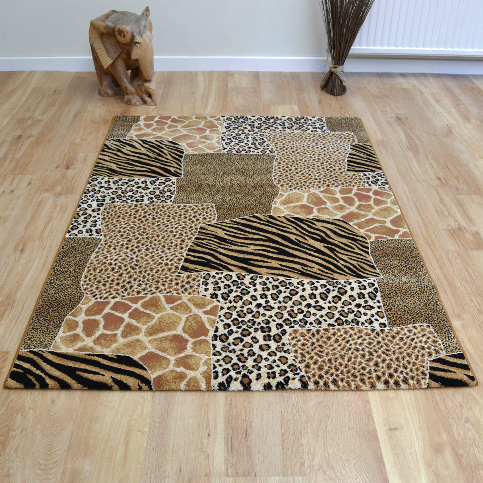 Galleria Rugs 51027 2223 Animal Print Patchwork