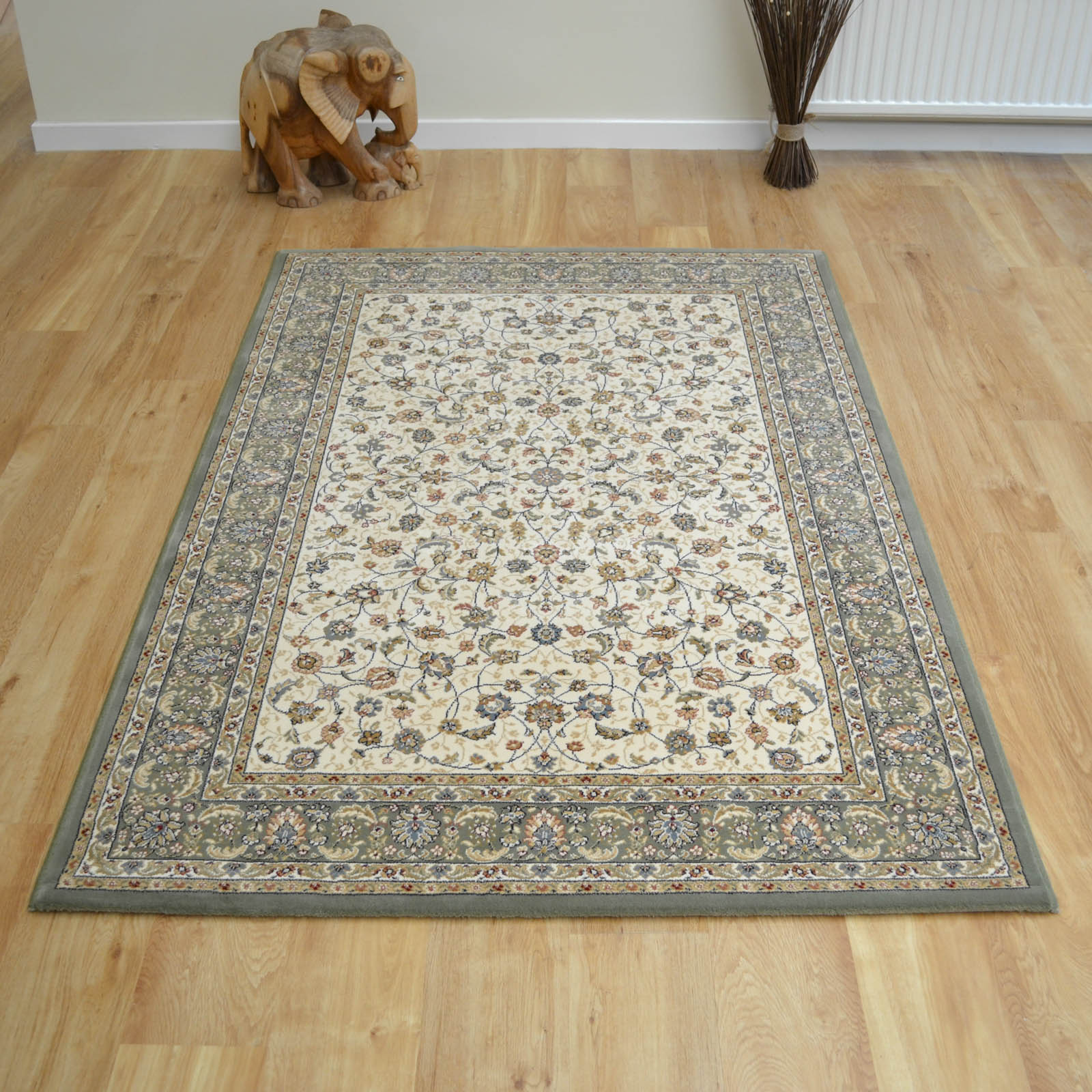 Da Vinci Rugs 57221 6444 in Cream and Green