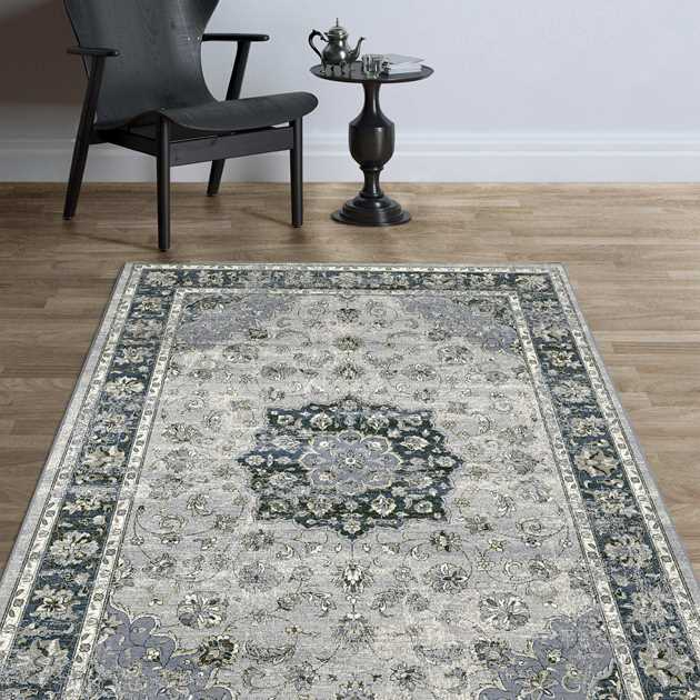 Da Vinci Rugs 57559 9686 in Blue
