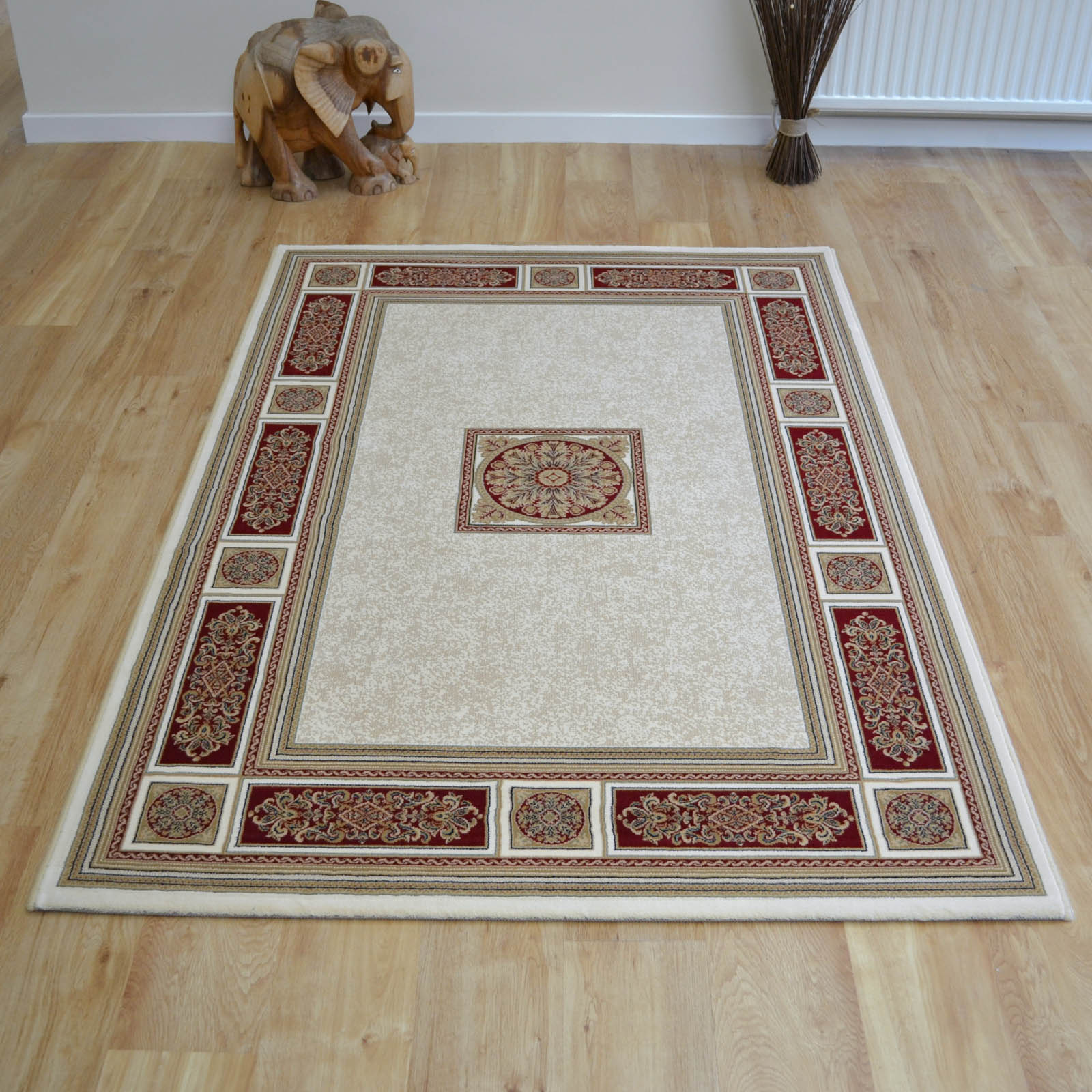 Da Vinci Rugs 57801 6414 in Cream and Red