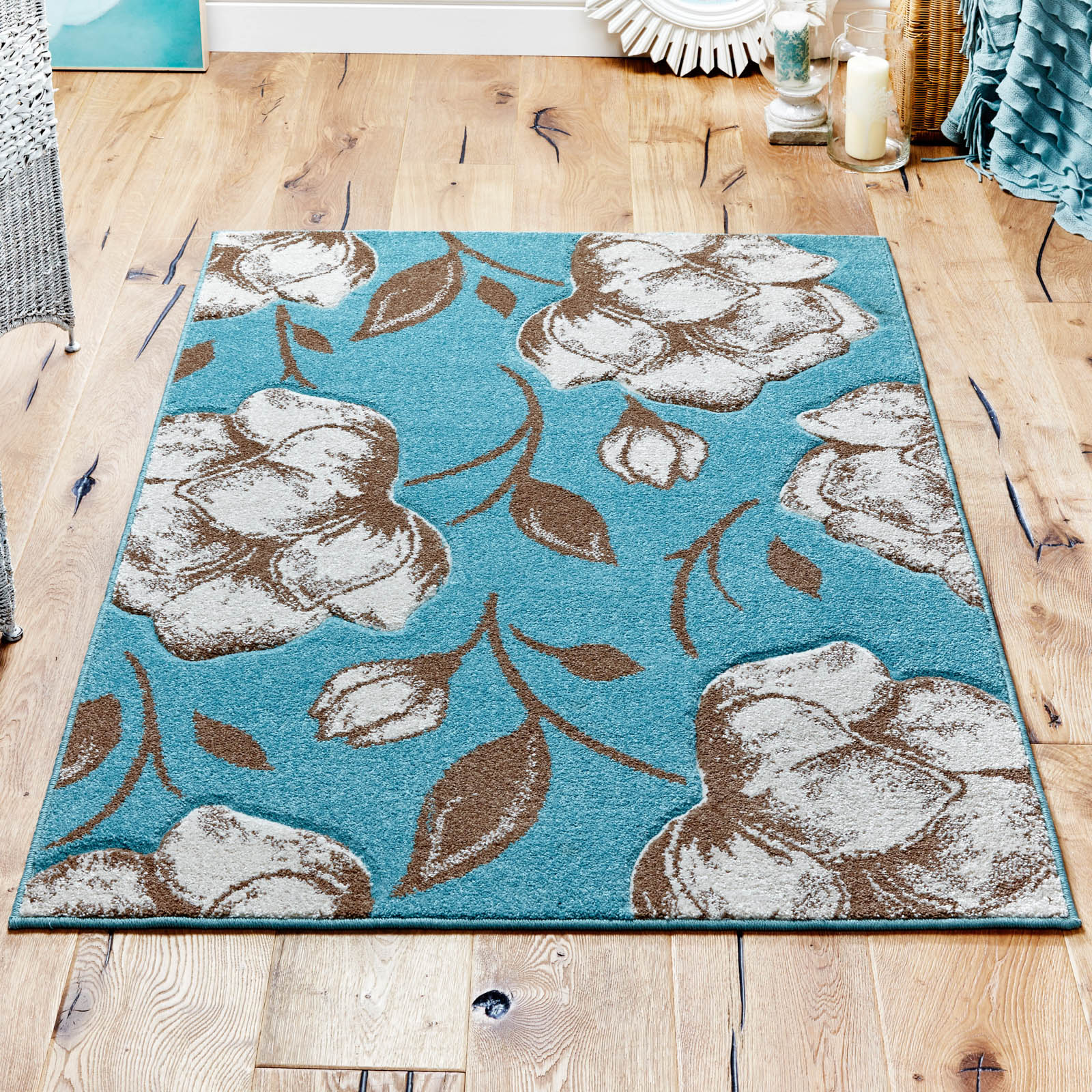 Viva Rugs 5996 L in Blue and Beige