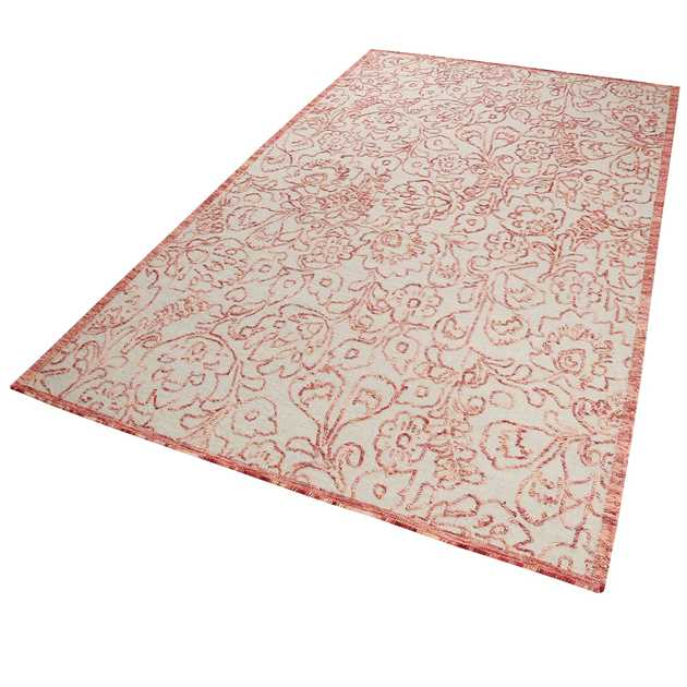 Kayla Kelim Rugs 6015 01 in Red by Esprit