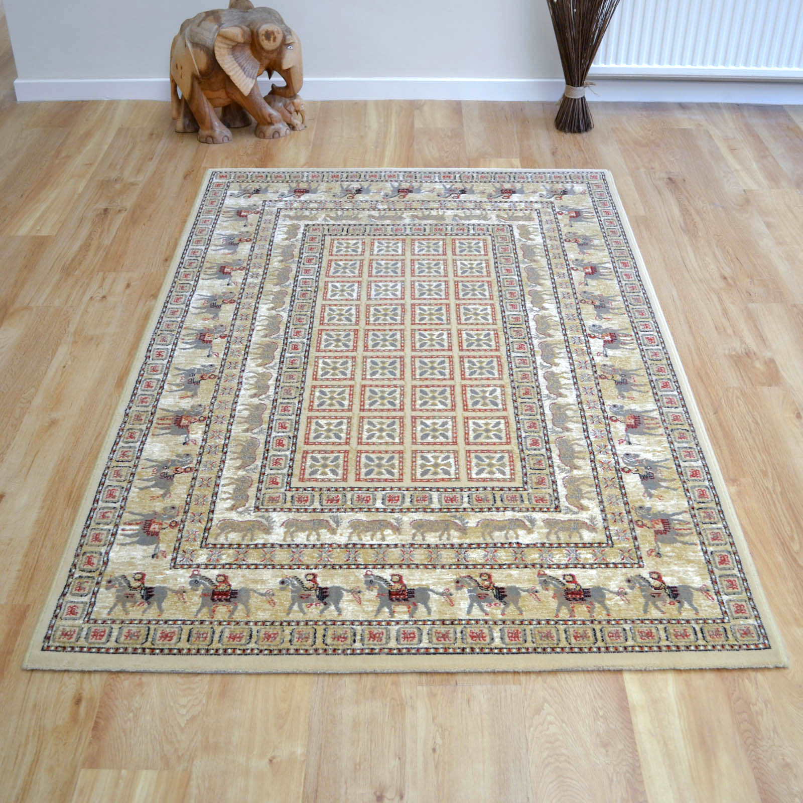 Noble Art Traditional Rugs 65106 190 in Pazyryk Beige